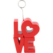 Red 'LOVE' Photo/Balloon Holder Wholesale Bulk