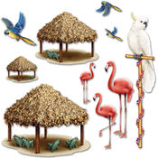 Tiki Hut & Tropical Bird Props Wholesale Bulk