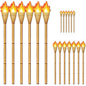 Beistle Luau Insta-Theme Tiki Torch Props - 15' to 4' 10' Wholesale Bulk
