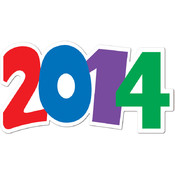 New Year's Decoration: 2014 Cutout Wholesale Bulk