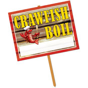 Crawfish Boil Yard Sign