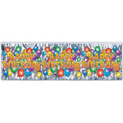 FR Metallic Happy Birthday Party Balloon Fringe Ba