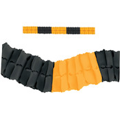 Packaged Leaf Garland - Black and Golden Yellow