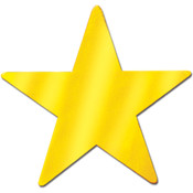 "Foil Star Cutout - 5"" - Gold"