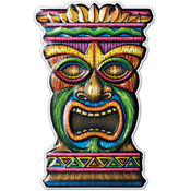 Beistle Luau 3-D Plastic Tiki Decoration - 17.5' Wholesale Bulk
