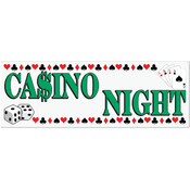 Casino Night Sign Banner Wholesale Bulk