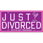 Just Divorced License Plate Cutout