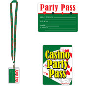 Beistle Casino Party Pass with Card Holder and Lanyard - 25 inch Wholesale Bulk