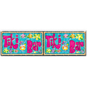 Beistle Luau FR Metallic Tiki Bar Fringe Banner - 14' x 4' Wholesale Bulk