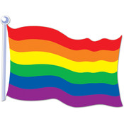 Rainbow Flag Cutout