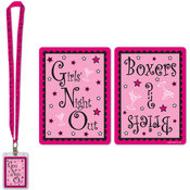 Beistle Girls' Night Out Party Pass with Card Holder - 25' Wholesale Bulk