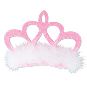 Pink Crown Hair Clip
