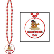 Beads w/Groundhog Day Medallion