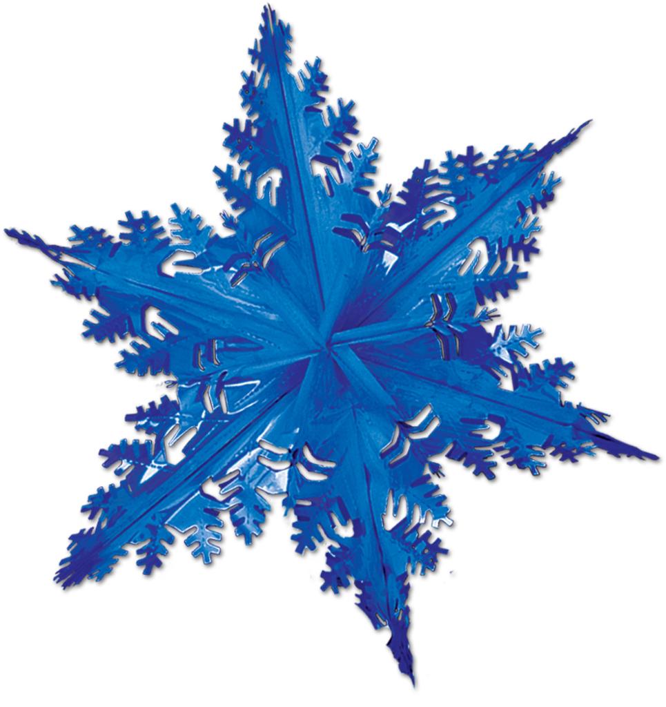 Metallic Winter Snowflake - Blue [540408]