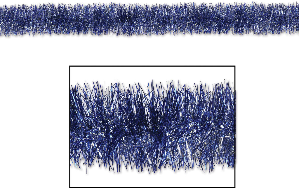 Wholesale fr gleam n tinsel garland blue silver sku