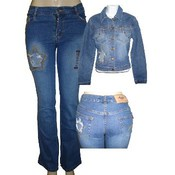 Womens 2 Piece Denim Sets