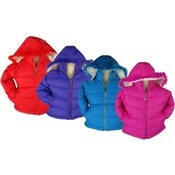Girls Winter Jacket w/ Faux Fur Edged Hood