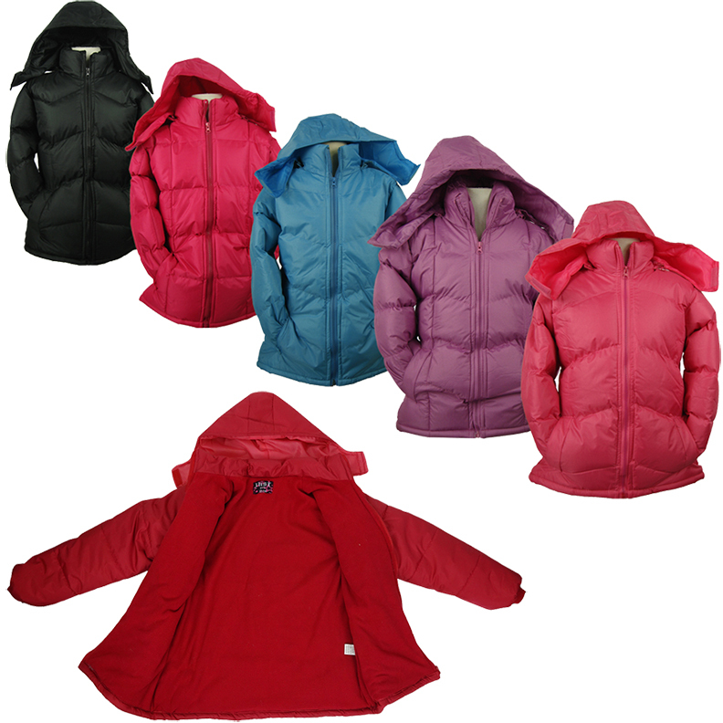 Girl's Hooded Fleece Lined Jackets Size 7-16 (2122409)