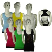 Juniors Halter Cut - String Backed Sport Top Wholesale Bulk