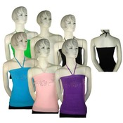 Juniors Seamless String Halter Tops Wholesale Bulk