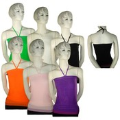 Women's Stretch Halter Top With Pattern Wholesale Bulk