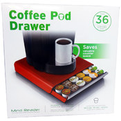Mind Reader Coffee Pod Storage Drawer- Red Wholesale Bulk