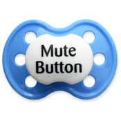 BooginHead Mute Button Blue Pacifier Wholesale Bulk