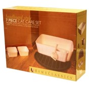 Home Classics Beadboard Style 7 Piece Cat Care Set