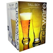 Circleware Tall Boy Four 24 Ounce Pilsner Glasses Wholesale Bulk