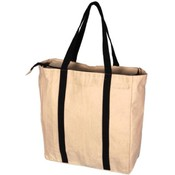 Eco Friendly Reusable Cotton Canvas Tote w/Zipper