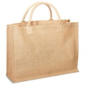 Jute/ Burlap  Shopping Bag - Natural