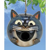 Grey Cat Birdhouse