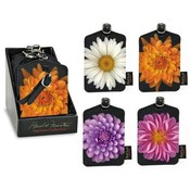 Flower Luggage Tag 4 Styles with Display Wholesale Bulk
