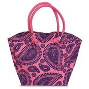 Paisley Jute Bag Pink &amp;amp; Purple