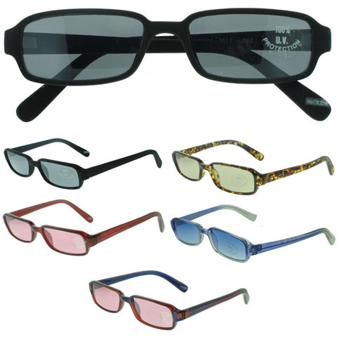Acrylic Frame SUNGLASSES with Assorted Lenses (790606)