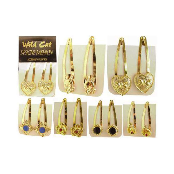 Assorted Gold Tone HAIR CLIPs [681566]