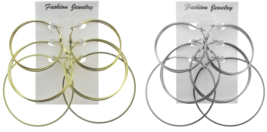 Trio of HOOP EARRINGS - 3 Pairs [2124229]