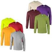 Men's Gildan 6.1 oz Long Sleeve T Shirts - 2X