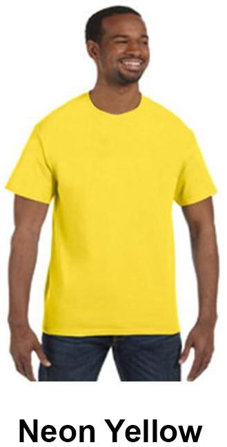 Wholesale anvil heavyweight t shirt neon yellow xl for Bulk neon t shirts