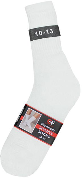 Cotton Plus Premium Sports Socks White - Size 10-13 [1878195]