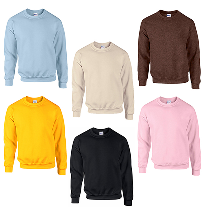 Gildan Irregular Adult Crewneck SWEATSHIRT - Assorted - Large [2276952]