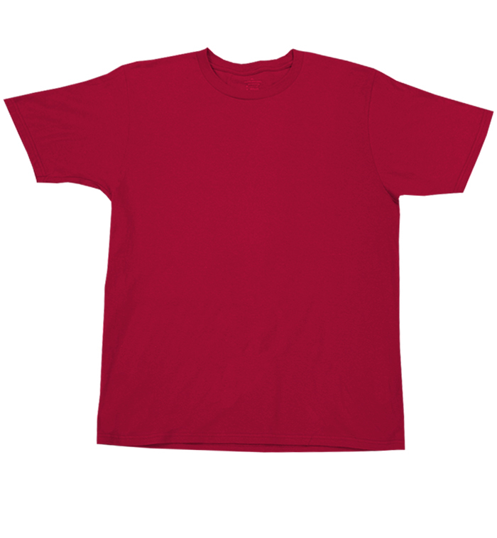 Wholesale Private Label Adult Tagless T Shirts Cardinal