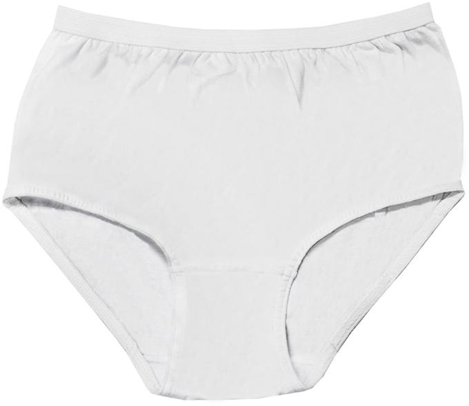 Cotton Plus Panties - White - Size 15 [1990000]