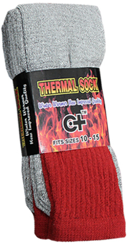 Cotton Plus Red Thermal Socks Size 10-15 [1227446]