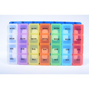 Color Coded Weekly Med Pill Organizer- Extra Large