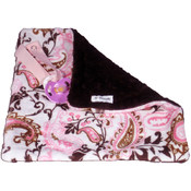 BB Emerald Pink Paisley Soft Pacifier Baby Blanket