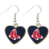 MLB Boston Red Sox Heart Shape Logo Earring Set