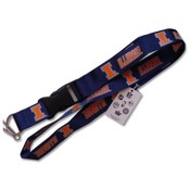Illinois Illini Clip Lanyard Id Ticket Holder