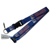 New York Rangers Clip Lanyard Keychain Id Holder