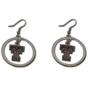 Texas Tech Red Raiders Logo Hoop Earrings